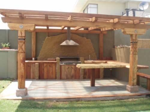 Quinchos y terrazas patio pinterest - Pergolas de madera fotos ...