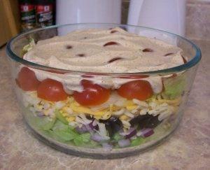 Layered Tex-Mex Taco Salad | Recipes to try | Pinterest