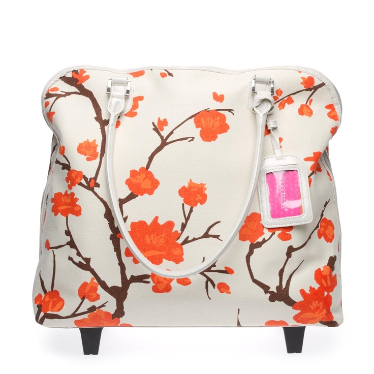 Eye-catching roller bag.....perfect for any getaway.