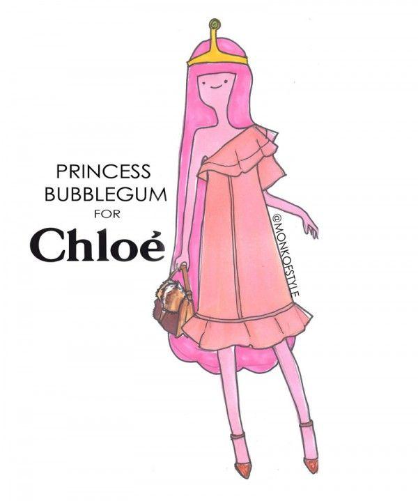 Jerome Lamaar Princess Bubblegum for Chloe. So cute.