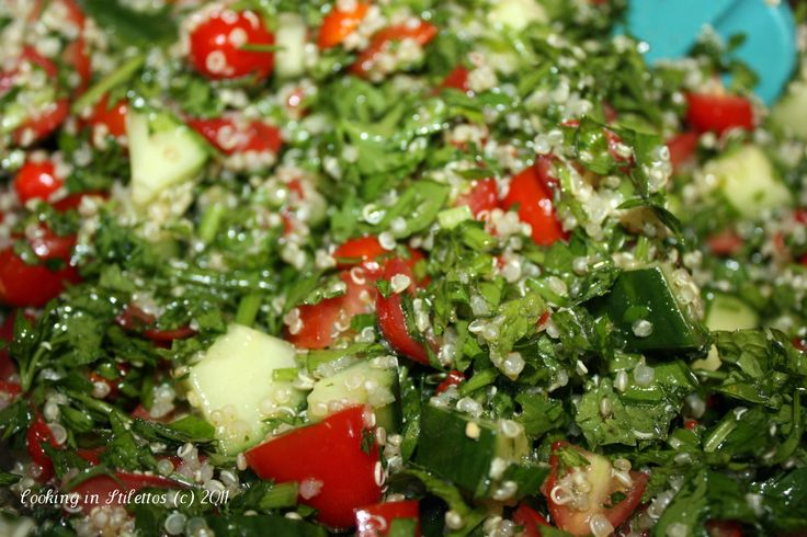 Quinoa Tabbouleh Adapted from Aarti Sequeira From: cookinginstilettos ...