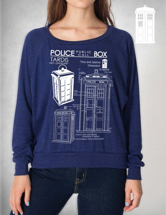 Tardis Blueprints Weight Raglan Pullover american by GeekyU1, $39.99