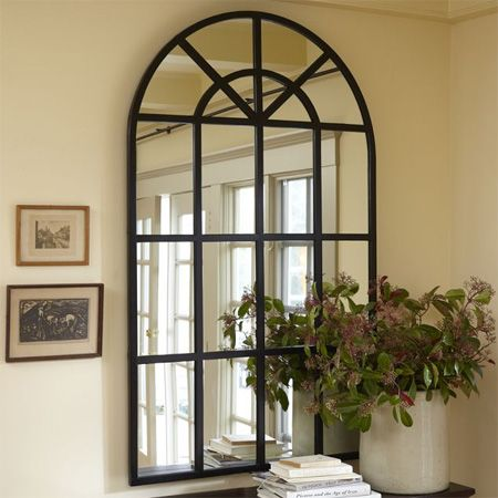 Home dzine diy arched window mirror diy decor pinterest for Arch window decoration