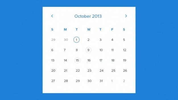 Monthly Calendar Template   Illustrations   Pinterest