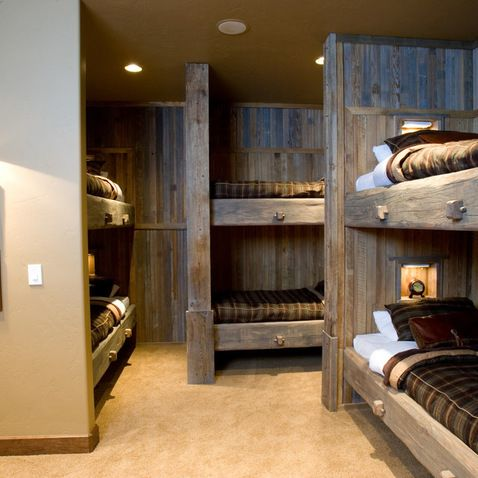 Pin by laurie huffman on cabins hunting camps pinterest for Cabin bed ideas