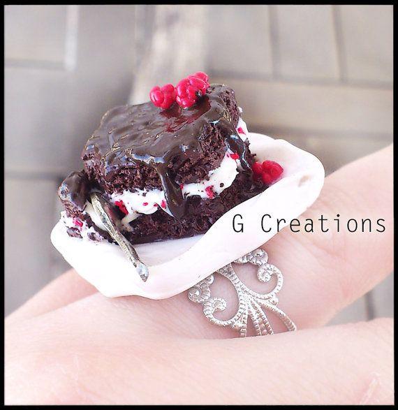 Chocolate Raspberry Cake Ring Handmade by GabriellesCreations #etsy # ...