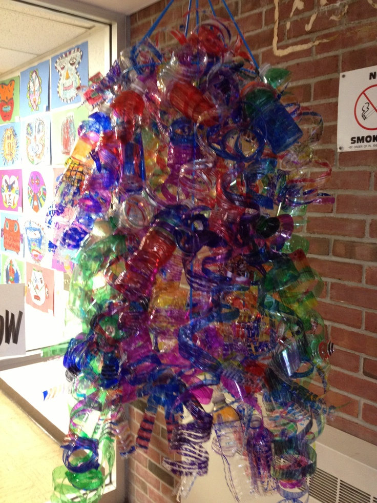 water bottle chandelier teacher stuff pinterest