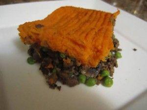 healthier shepherd's pie w/sweet potatoes instead of white. Nice!