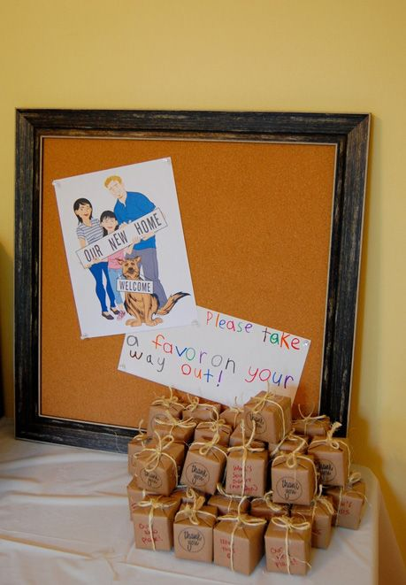 house warming party favors  moving from beginning to end  Pinterest
