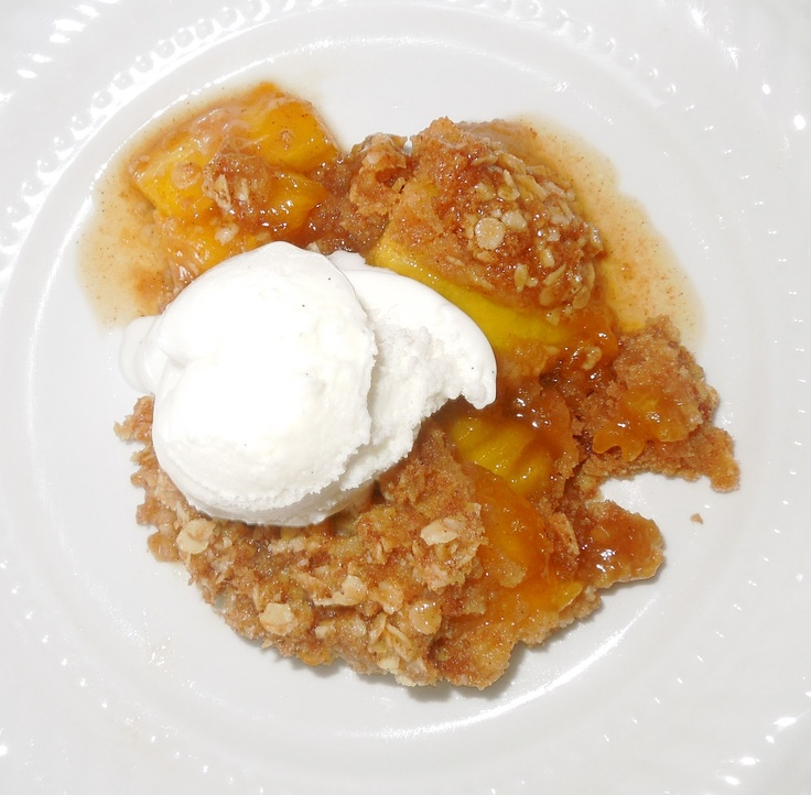 ... brown sugar oatmeal topping so easy. Serve with vanilla ice cream