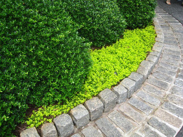 Flower bed stone edging garden borders pinterest for Flower bed border stone