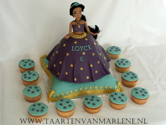 Jasmin taart met cupcakes