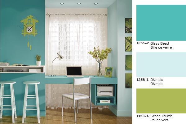 Maison Contemporaine Bois Acier :  celebration!  Le vert à lhonneur! #paint #peinture #office #bureau