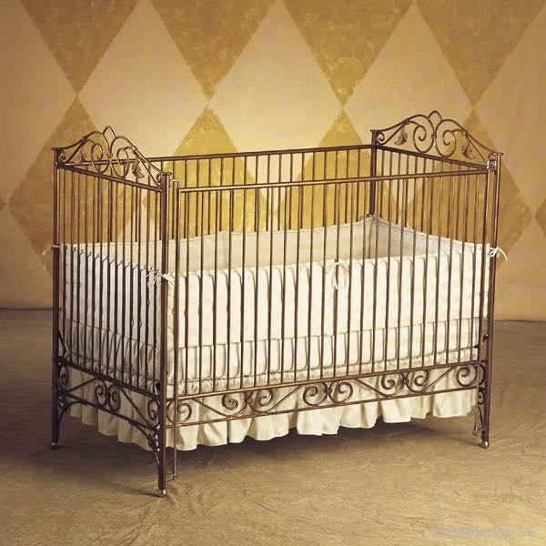 Wrought iron crib yes interesting furniture pinterest