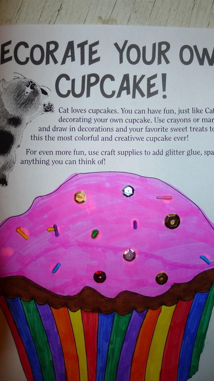 If you give a cat a cupcake activities