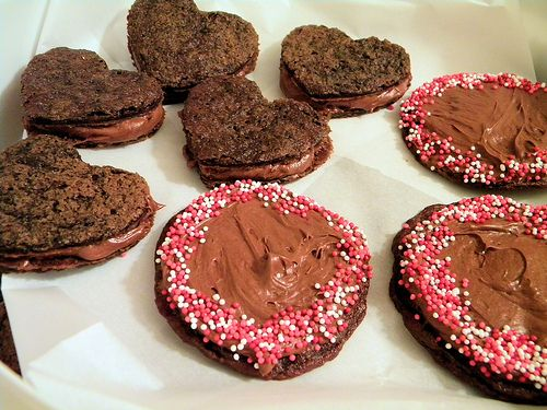 Chocolate Malt sandwich cookies | The Bakery | Pinterest