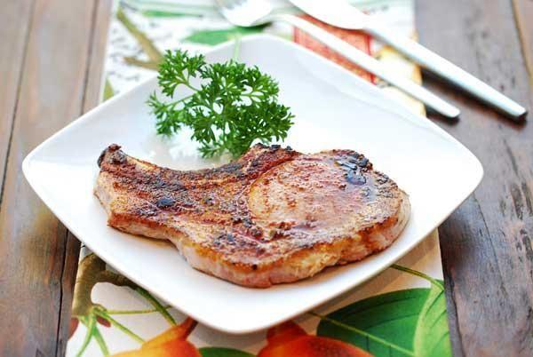 Simple, Pan-Fried Pork Chops Recipe — Dishmaps