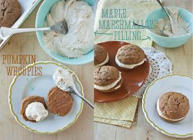 Food is Like Art: Pumpkin Whoopie Pies with Maple Marshmallow Filling