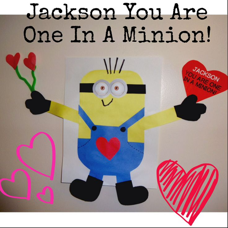 Minion Valentines Day Craft Valentines Day Pinterest