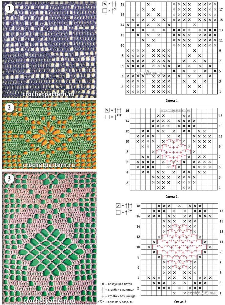Красивейшее вязание филейных узоров