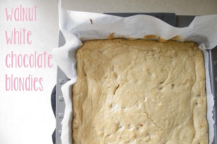 walnut white chocolate blondies :D   Bake sale Ideas   Pinterest