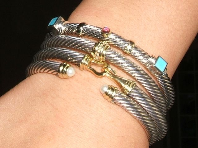 Stacked david yurman bangles jewels pinterest for David yurman like bracelets