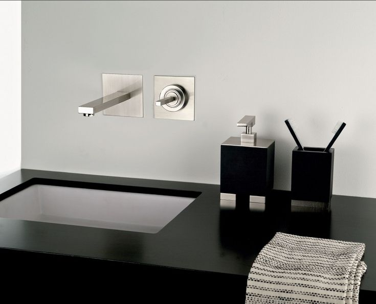 bathroom in-wall faucet - Google Search House ideas Pinterest
