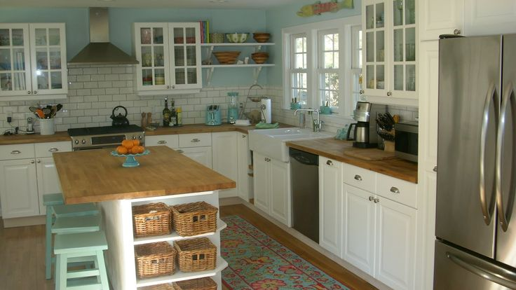 IKEA Lidingo kitchen, butcher block countertops,  | House and Home