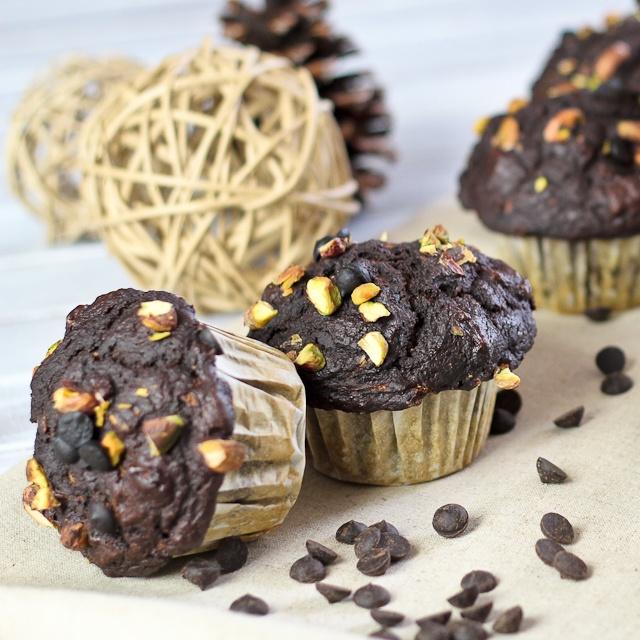 Pumpkin Zucchini Chocolate Muffins | Recipe