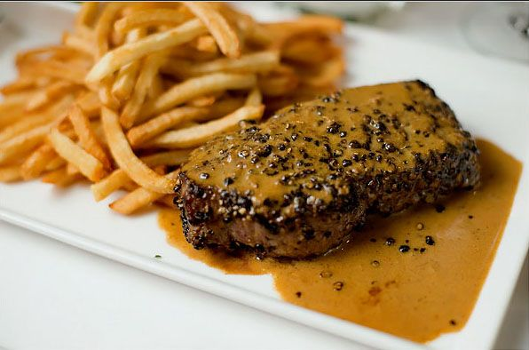 Raoul's Steak Au Poivre. Steak with peppercorns, the French Bistro ...