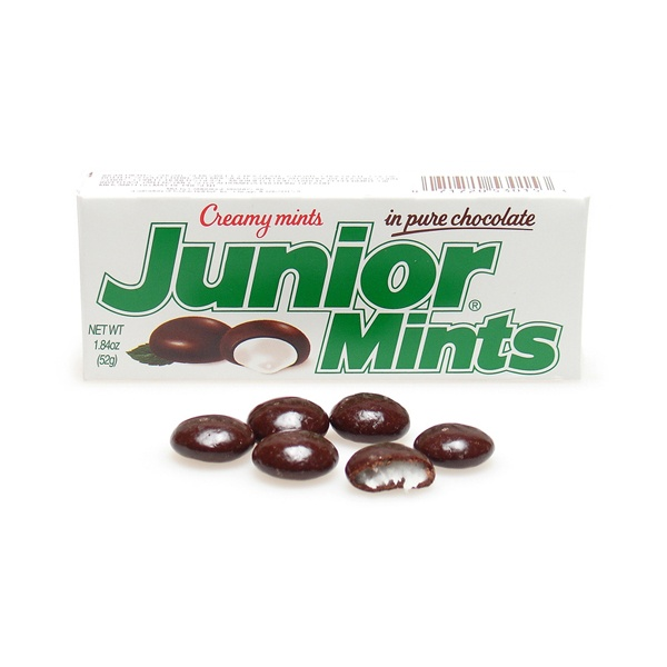 ... candy can you guess it's Junior Mints! Creamy mints in pure chocolate