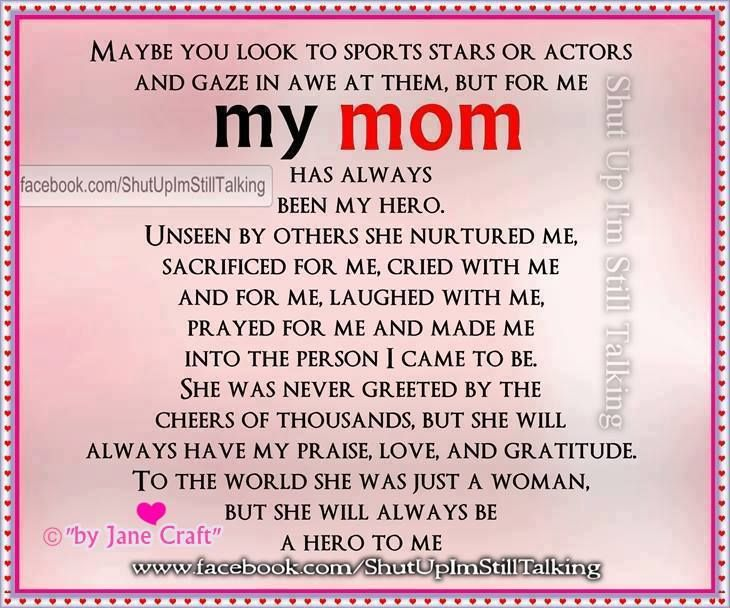hero essay on your mom If your mom is your hero, this is an article for you and her to read together.