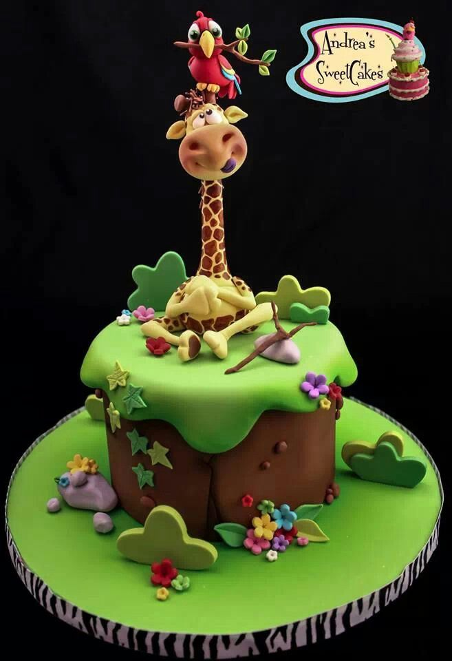 Zoo cake Carson s bday ideas Pinterest