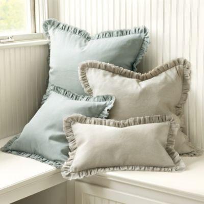 Beaulieu Ruffled Edge Pillow | Ballard Designs