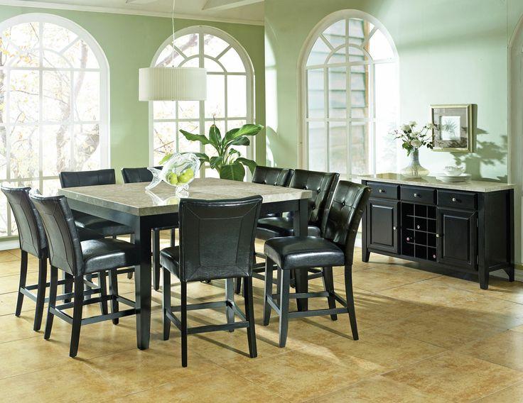 Black And Silver Dining Room Set Enchanting Decorating Design