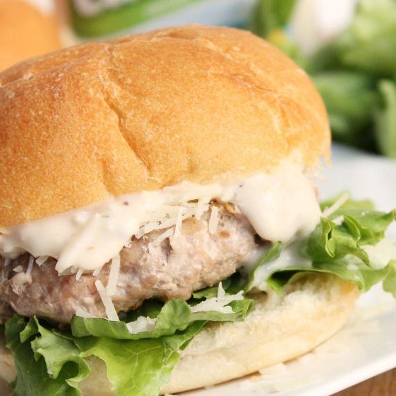caesar-salad-burger-square | Recipes | Pinterest
