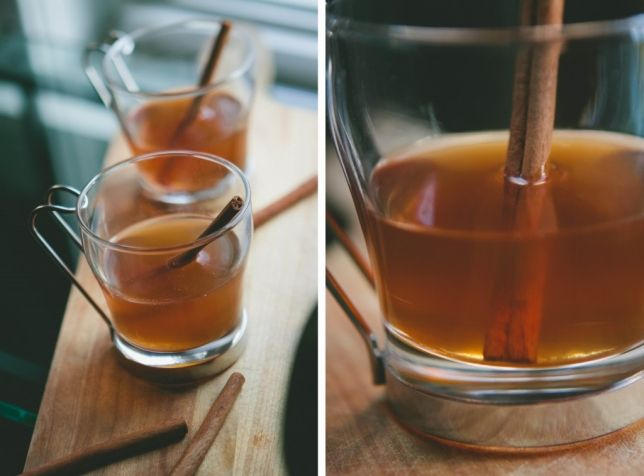 Hot Apple Toddies from A Thought For Food #recipe #cocktail