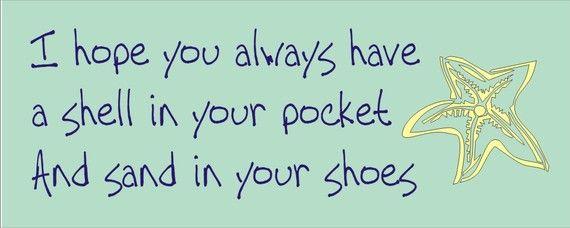 Love shells in my pockets