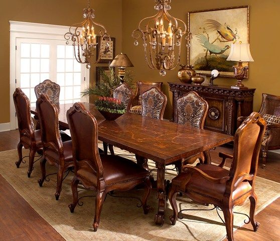 Tuscan dining table tuscan decor pinterest for Tuscan dining room ideas