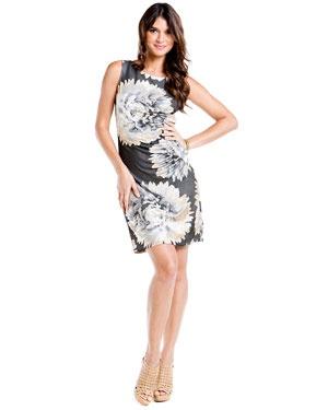 Hale Bob Neutral Printed Sheath Dress