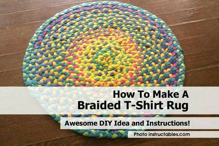 Braided rug diy crafts pinterest for How to make rugs out of old t shirts