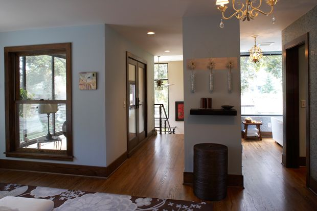 Light Walls Darker Trim : dark trim light walls house stuffs Pinterest