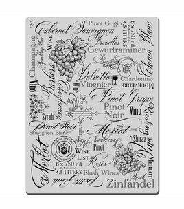 wine stamp | Crafts | Pinterest