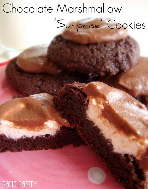 Chocolate Marshmallow Surprise Cookies | Cookies | Pinterest