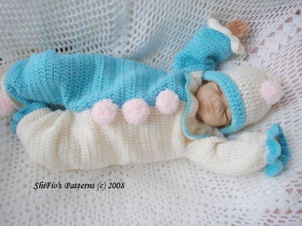Clown Suit Baby Crochet Pattern Crochet - Clothes ...