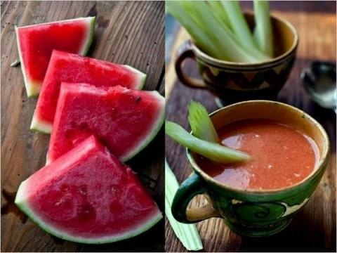 Watermelon Gazpacho Recipe adapted from a watermelon and tomato soup ...