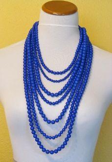 Blue Long Beads