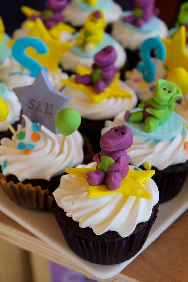 barney cake cupcakes