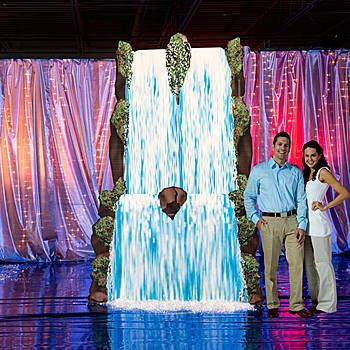 Prom Decorations Diy Faux Waterfall Prom Pinterest