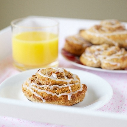 scones recipe - cinnamon roll